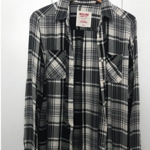 Black and white plaid flannel